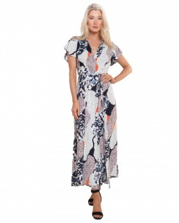 French Connection Asha Drape Maxi Dress