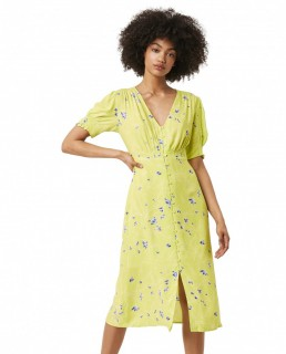 French Connection Lime Punch Ambar Printed Tea Dress