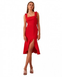 Finders Keepers Red Midi With Thigh Split