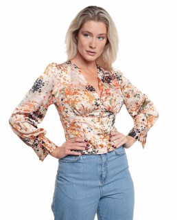 Never Fully Dressed Bloom Print Lindos Top