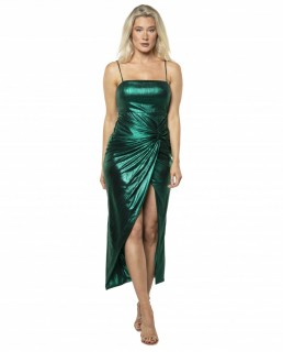 Prem The Label Jade Green Onyx Twist Midi Dress