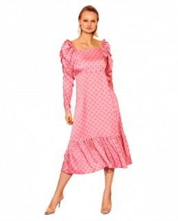 Crās Dotty Pink Pil Dress