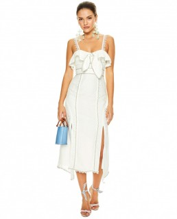Talulah White Champagne Cocktail Midi Dress