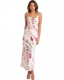 Bardot Purple Tie Dye Slip Dress