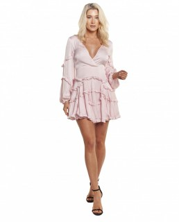 Bardot Pink Rose Nala Frill Dress