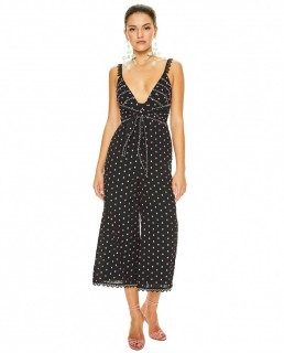 Talulah Black Lilac Spot All Night Long Jumpsuit