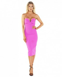 Bardot Kayla Midi Pink Dress
