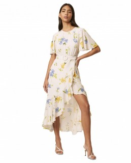 French Connection Summer White Emina Drape Dress