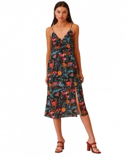 Finders Keepers Black Tropical Sally Dress