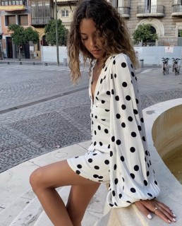 Rat & Boa Perla Polka Dot Mini Dress