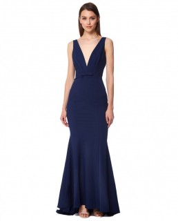 Jarlo Freida Navy Maxi Dress