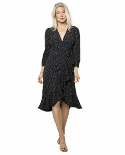 Whistles Bud Print Wrap Dress
