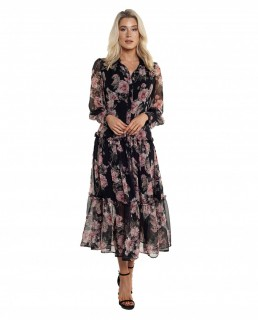 Bardot Navy Floral Dress