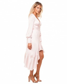 Bardot Pink Rose Sofie Midi Dress