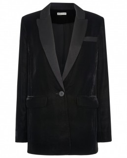 Whistles Black Velvet Tux Blazer And Trouser Co-Ord