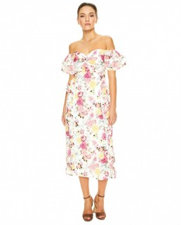 Talulah Floral Tea Time Midi Dress