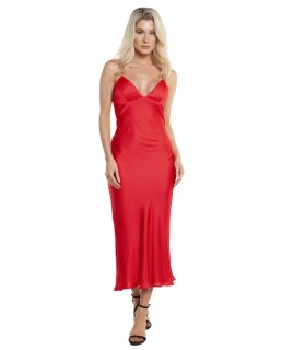 Bardot Fire Red Jassie Slip Dress
