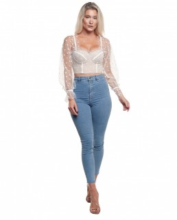 Runaway The Label White Spot Chloe Top
