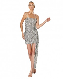 Winona Silver Mingle Sash Dress