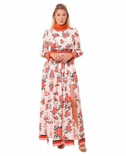 Comino Couture Pink Floral Let's Split Dress