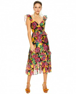 Talulah Floral Barcelona Bloom Midi Dress