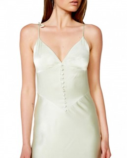 Bardot Pistachio Zelda Slip Dress