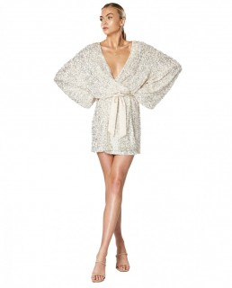 Winona White Synergy Wrap Dress
