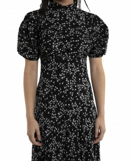 Ghost Black Ditsy Print Jenna Midi Dress