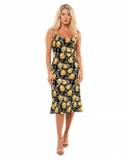 Seven Wonders Limoncello Slip Dress Lemon Print