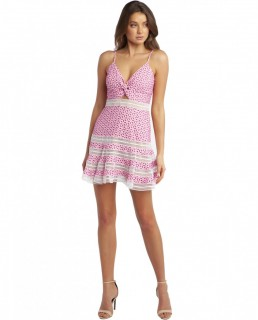 Bardot Pink Shock Camille Dress