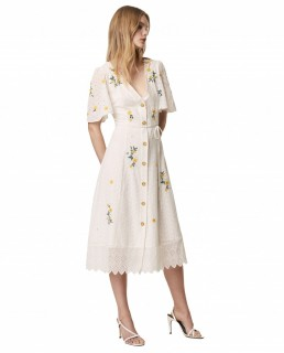 French Connection Summer White Eka Embroidered Dress
