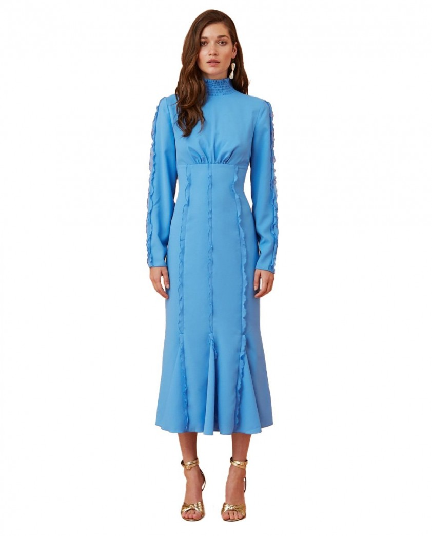Keepsake The Label Royal Blue Beloved L/S Midi Dress