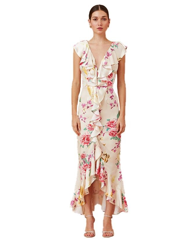 Keepsake The Label Creme Floral Arrows Gown