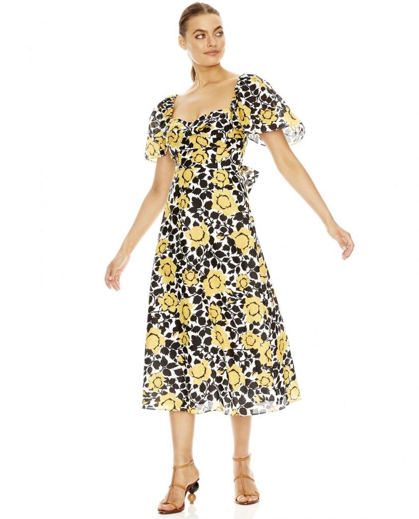 Talulah Fields Of Gold Midi Dress