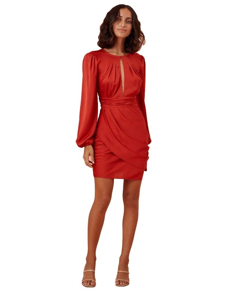 Finders Keepers Red Gabriella Mini Dress