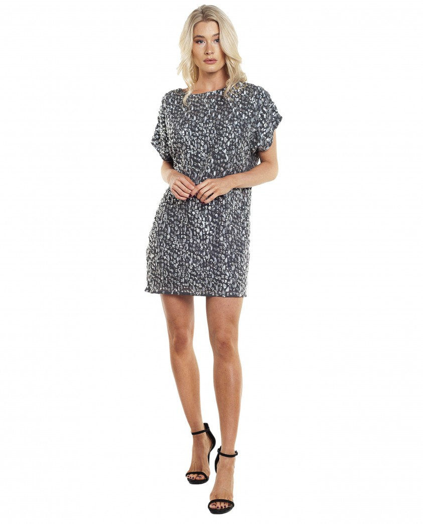 French Connection Aatami Emebellished T-Shirt Dress
