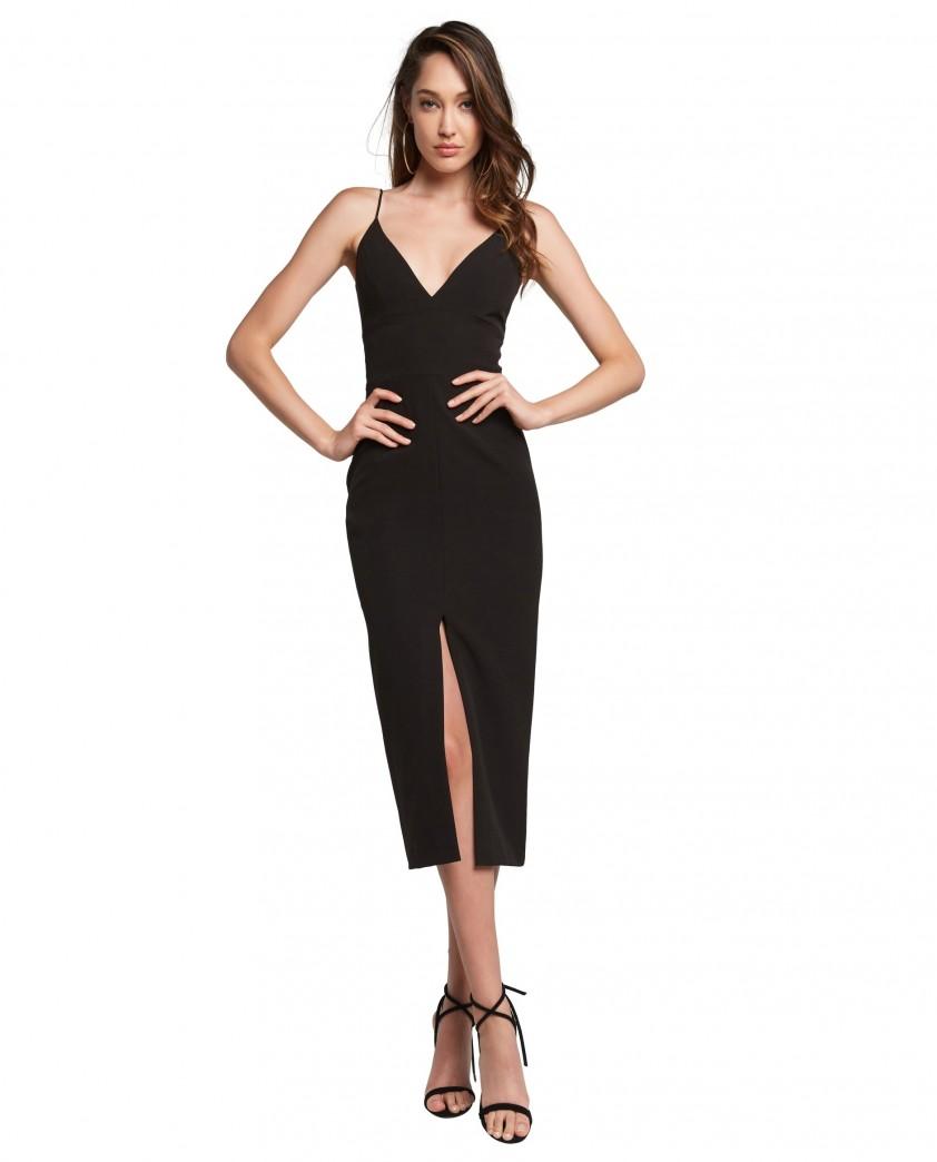 Bardot Black Diana Midi Dress