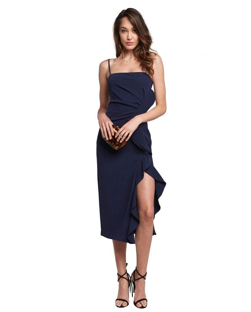 Bardot Rona Midi Dress in Navy