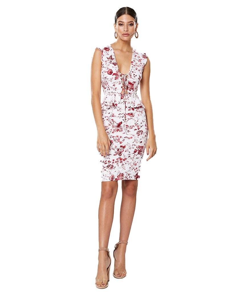 Winona Ming Lace Up Dress