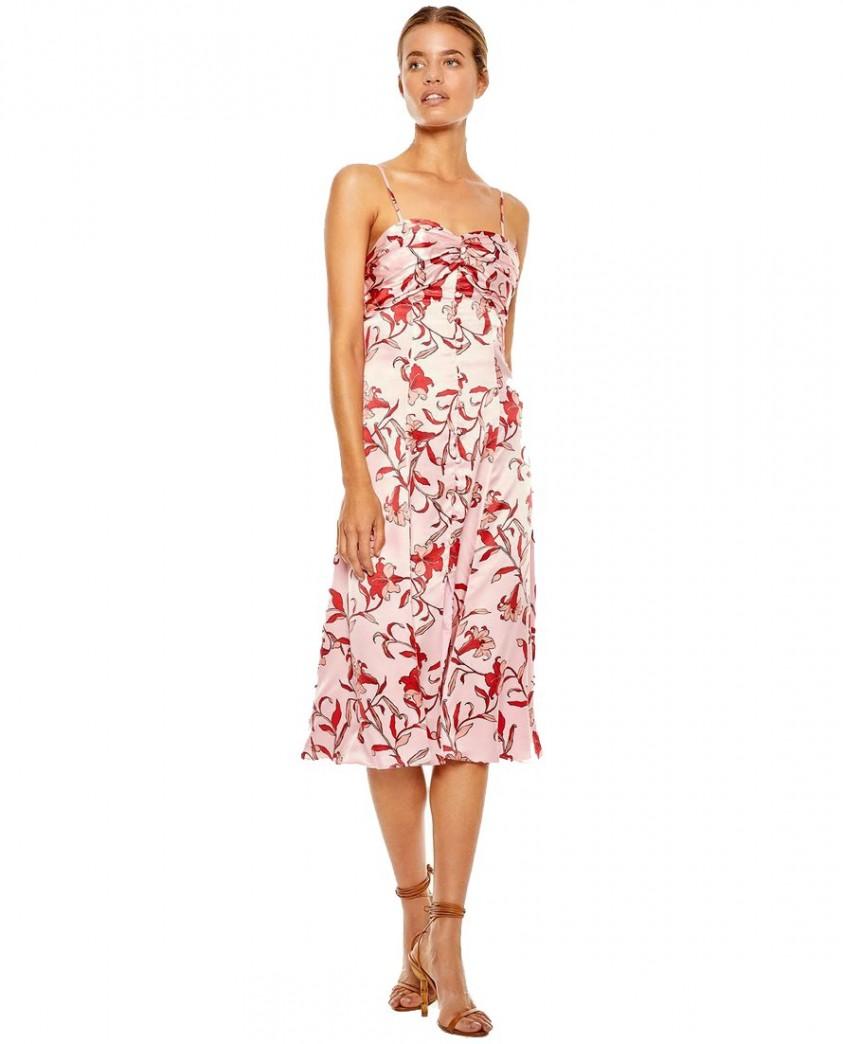 Talulah Pink Waltzing Midi Dress