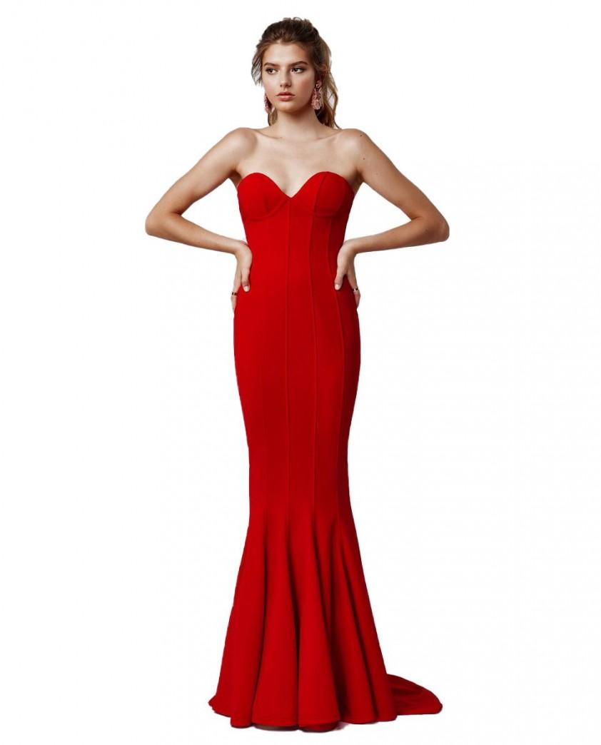 LEXI Sahar Dress In Red