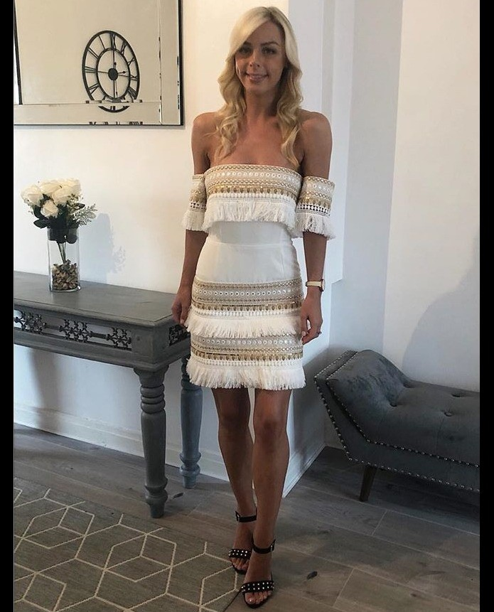 Prem The Label Makeda White Frill Mini Dress