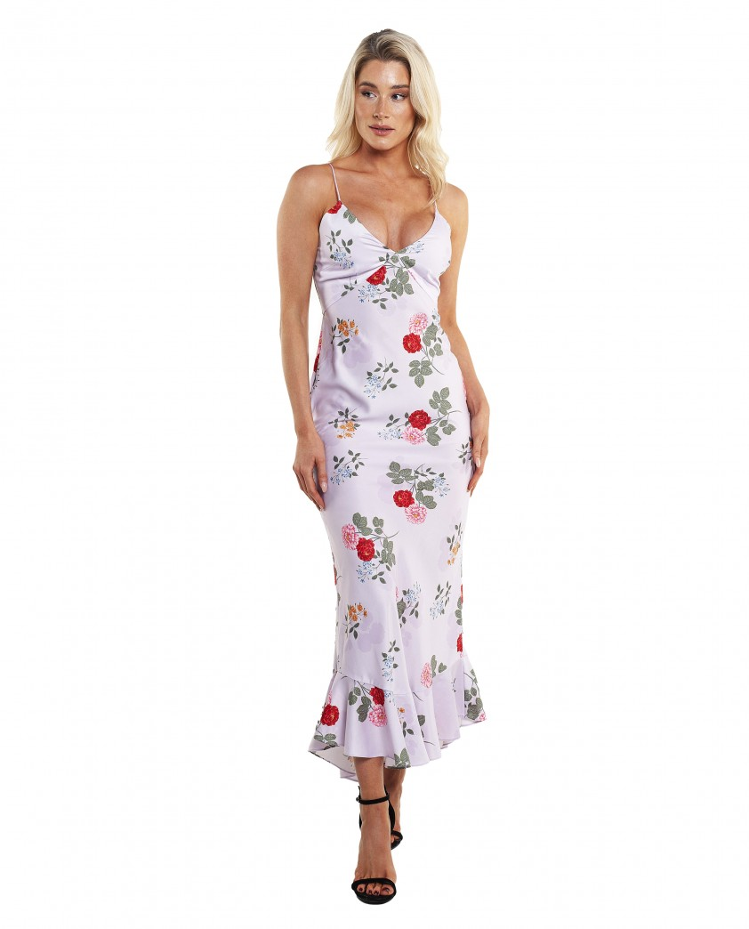 Keepsake The Label Lilac Floral Maxi Gown
