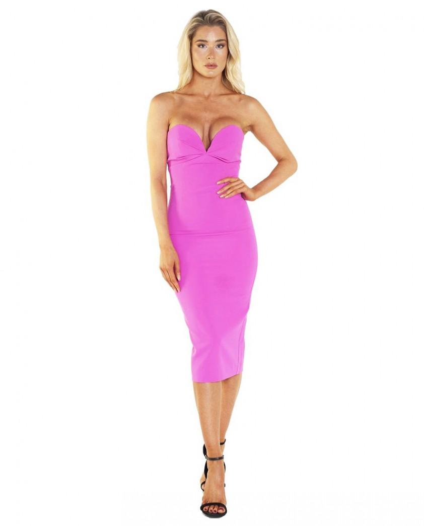 Bardot Kayla Midi Pink Dress