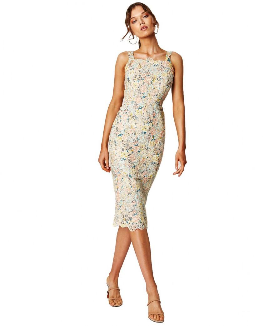 Winona Sunburst Backless Dress