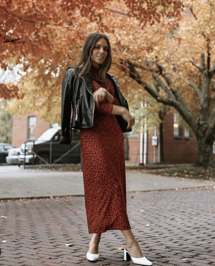 WAYF Prudence Knit Midi Dress