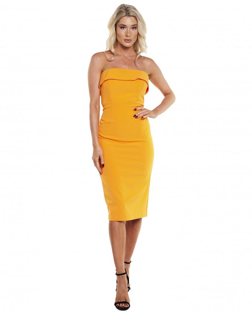 Bardot Mandarin Strapless Midi Dress