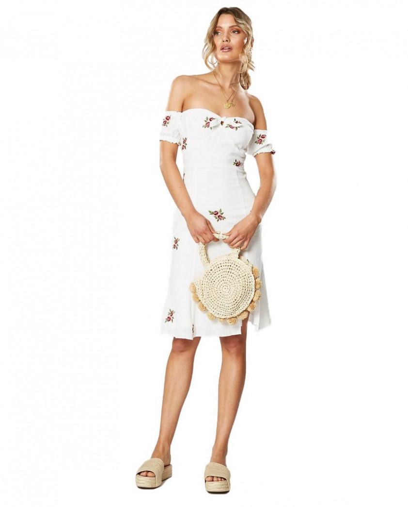 Winona English Rose Off The Shoulder Dress