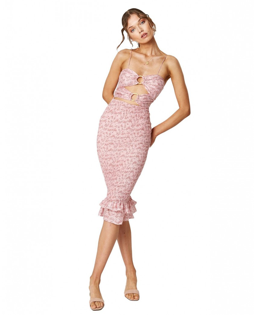 Winona Pink Wildflower 3/4 Dress