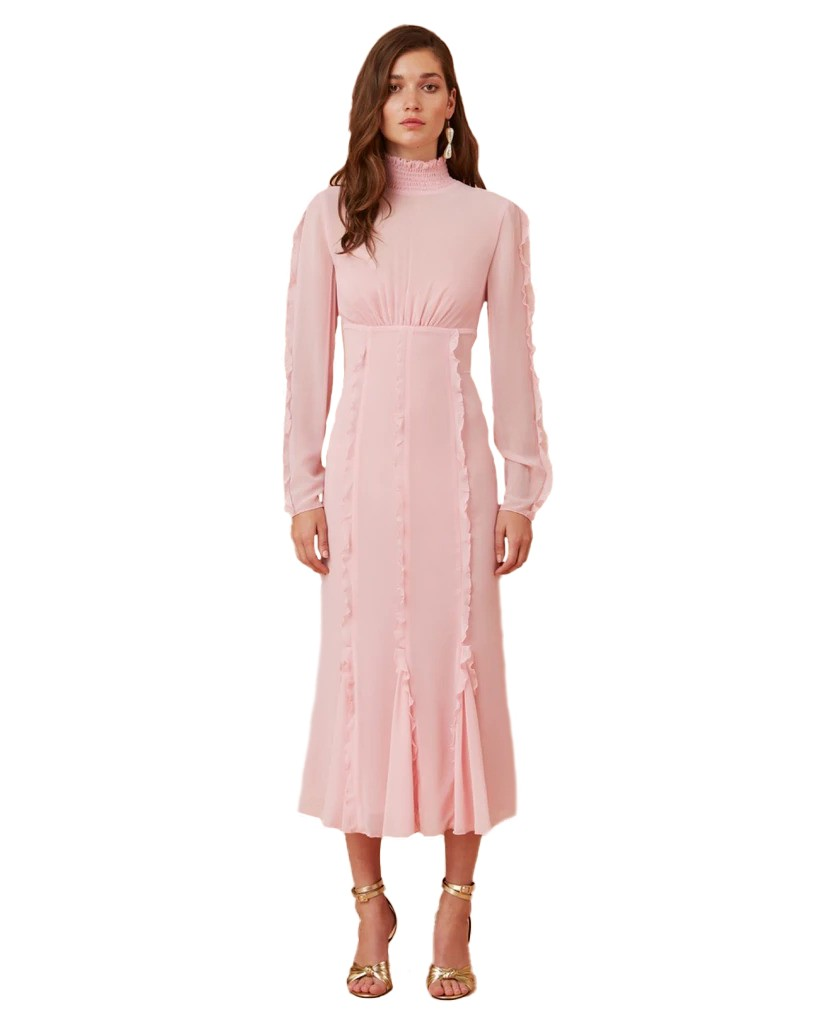 Keepsake The Label Blush Beloved L/S Midi Dress